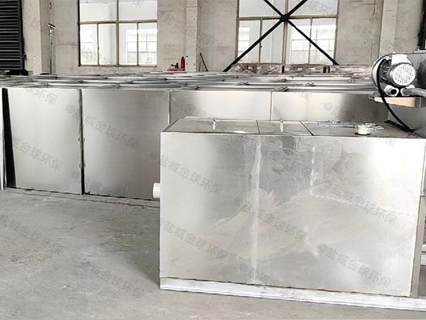 餐饮专用大型混凝土除油污水处理设备内部结构图