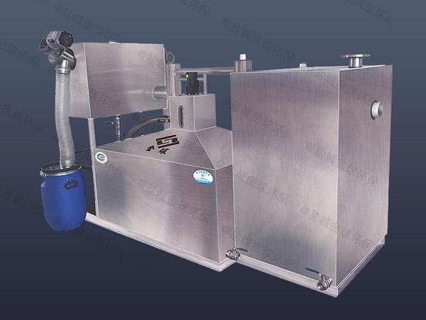餐用30立方隔渣隔油池自动刮油设计规范