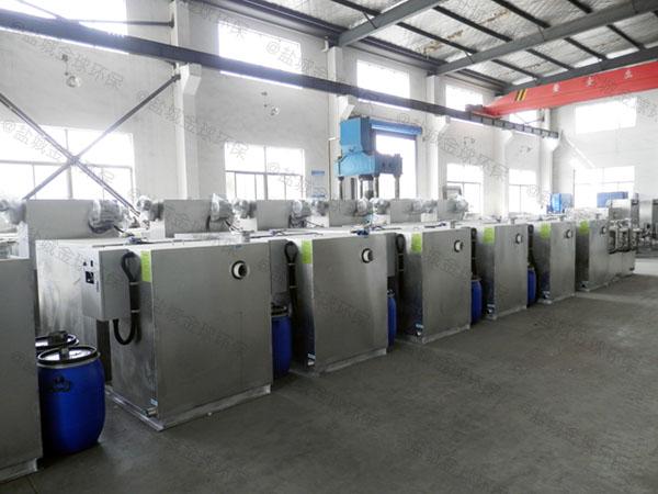餐饮业3.1米*1.2米*1.85米不锈钢隔油提升一体化设计要求