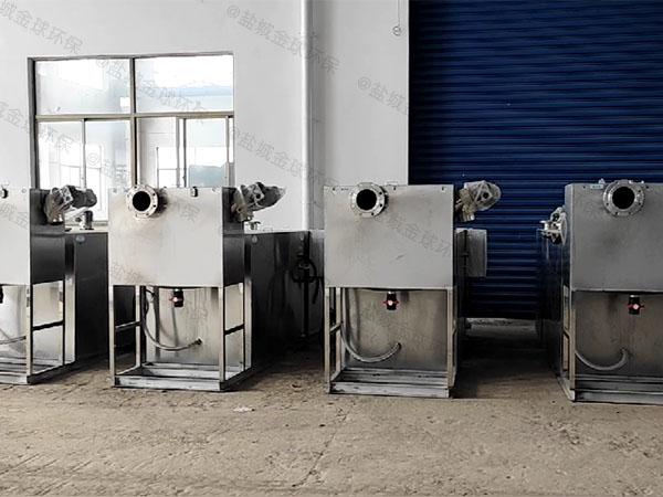 餐饮行业3.1米*1.2米*1.85米混凝土除渣隔油一体机品牌