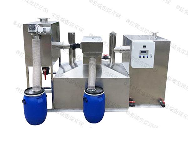 餐饮类中小型隔渣隔油提升设备一体化装置简图