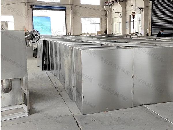 饭堂3.1米*1.2米*1.85米不锈钢隔油一体设备内部结构