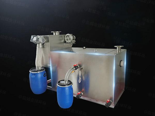 工厂食堂100人隔渣隔油提升设备一体化装置停留时间