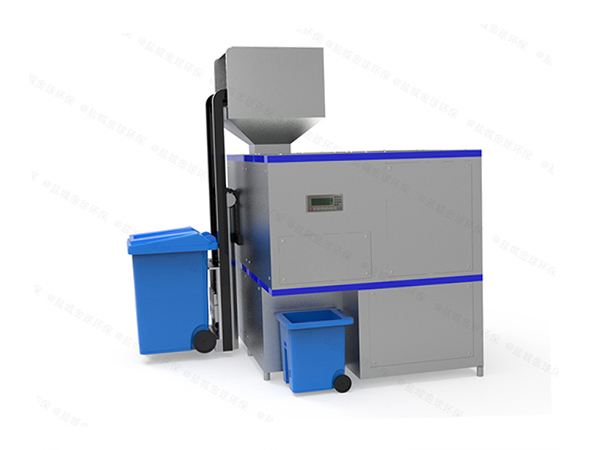 日处理5吨自动上料餐饮一体化垃圾处理设备用户案例
