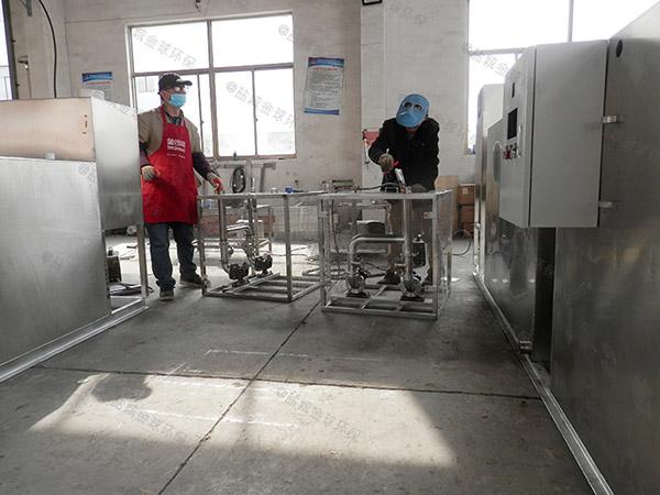 食堂地下式机械隔油强排一体化设备的处理效率