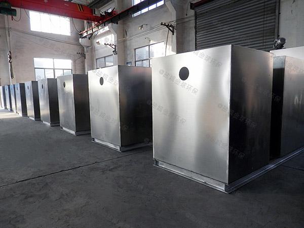 食堂埋地半自动隔油全自动提升设备案例