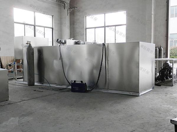 餐饮店地面式移动隔油提升一体化装置安装效果图