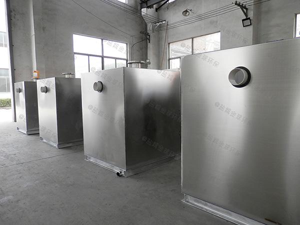 食堂地上移动式隔油提升一体化装置处理效果