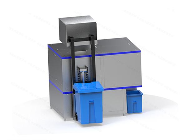 日处理5吨机械式餐厨垃圾烘干粉碎压缩设备工艺流程图