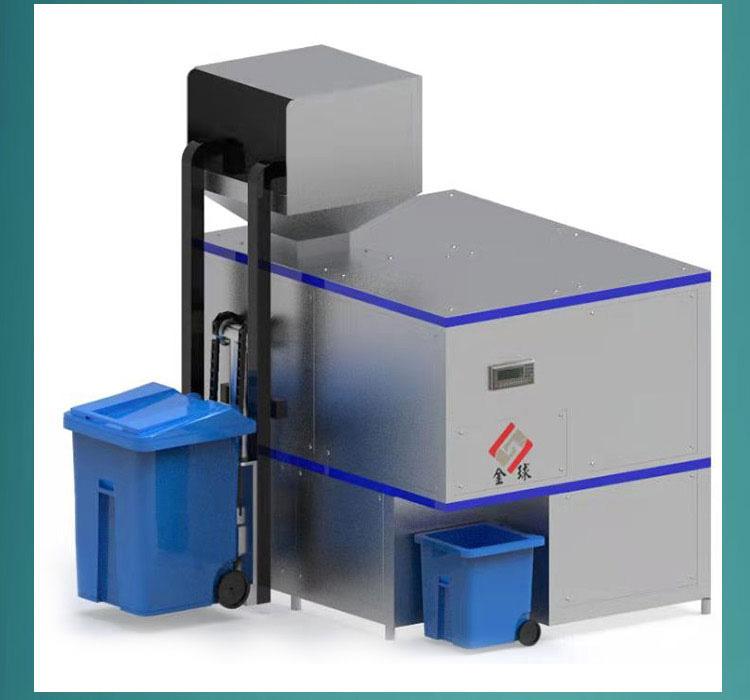 机械式酒店厨余湿垃圾处理机器运行原理
