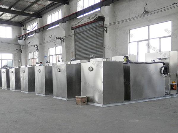 地埋式多功能饭店垃圾油水分离处理设备工作原理