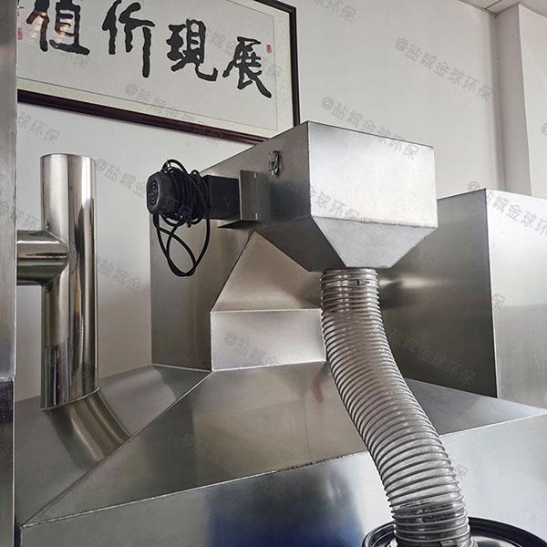 室内自动刮油餐厨垃圾油污水分离装置做法与尺寸图