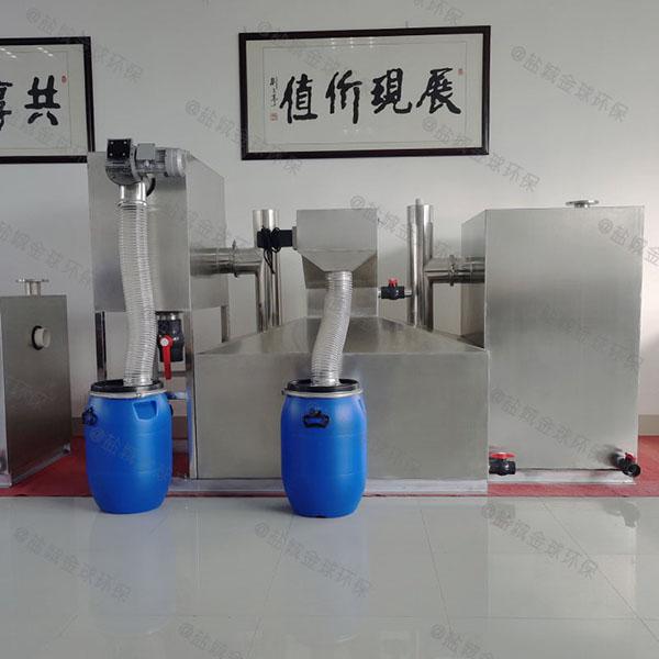埋地智能化餐厅油水分离器图纸