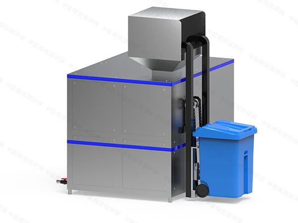 日处理5吨商业城厨余垃圾粉碎处理系统方案